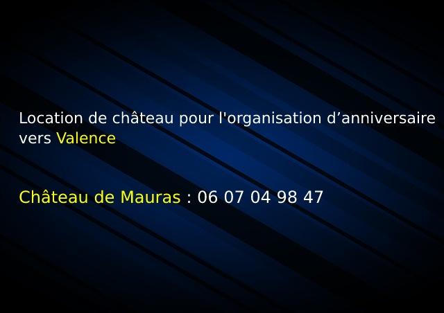 Mauras_Location de château pour l'organisation d'anniversaire vers Valence